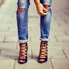 Zara lace up bootie