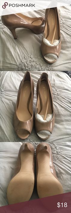 Enzo Angiolini Patent Leather Open Toe Heels Enzo Angiolini Patent Leather Open Toe Platform Heels. Light scuffs on heel Enzo Angiolini Shoes Heels