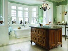 Master Bathroom With Island | HGTVRemodels.com