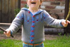 crochet pattern  child's robot hoodie by LilleyStitches on Etsy, £3.00