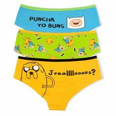 Adventure Time Panties 3-pack on Wanelo
