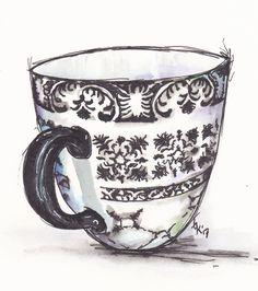 A painting of Catharina's Tea cup.... http://traceyfletcherking.blogspot.com.au/2013/03/catharinas-mug.html