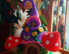 Casa de Gnome o ganchillo hecho a mano fantasía hadas por emcrafts