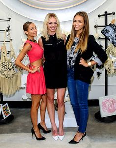 Flowery Friends Jessica Alba and Nicole Richie checked out The Bouqs/clamdiggin display at The Simone Camille Trunk Show at JustOne Eye in LA on Aug 28.