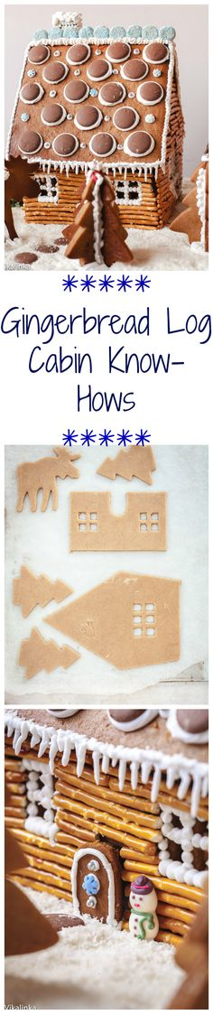 Easy instructions for a gingerbread house. The best family project over the holidays!