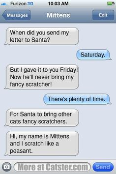 Texts From Mittens: The Treat-Mania Edition Funny Text Memes, Funny Text Messages, Funny Texts, Funny Quotes, Dog Texts, Drunk Texts, Text From Mittens, Cat Text, Funny As Hell