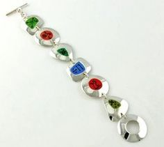 Multi-Color Shapes Bracelet