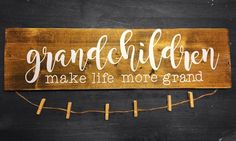 Grandchildren make life more grand - Grandma & Grandpa Gift Decor Picture Holder    eBay