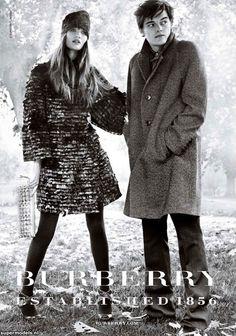 Rosie Huntington-Whiteley and Sam Riley - Burberry