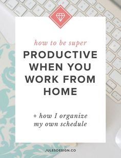 Being more productive really comes down to scheduling your time, sticking to it and getting organized. When I took the time to do all three of these things, my productivity shot up. Create a schedule for your business that also allows you to enjoy your pe Creative Business, Business Tips, Online Business, Business Education, Business School, Business Entrepreneur, Time Management Tips, Business Management, Project Management