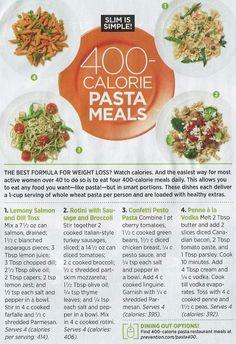400 calorie pasta meals