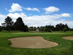 An inviting putting green awaits at Hazelmere Golf Course in Surrey, BC.