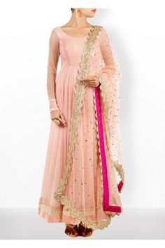 Flaunt an ethnic look in this gorgeous bush pink net anarkali with water sequin work and net lycra churidar and top the look with this beautiful kundan work dupatta . Color can be customized on order #Gorgeous #Bush #Pink #Net #Anarkali #Dupatta #AnkitaJuneja #CarmaOnlineShop #WorldWedeShipping #FestiveSeason #ShopNow