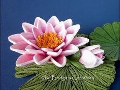 Quilling Water Flowers and Leaves - Quilling Informations Webseite