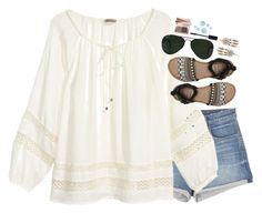 """""""summer vibesss ☀️"""" by meljordrum ❤ liked on Polyvore featuring J Brand, H&M, Billabong, Ray-Ban, Boohoo, Gucci, Topshop and Bobbi Brown Cosmetics"""