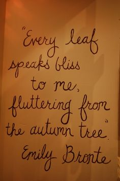 Autumn, by Emily Bronte