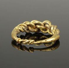 ANCIENT VIKING HEAVY BRAIDED GOLD RING - CIRCA 9th/10th CENTURY