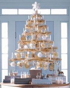 Candlestick Ivory Christmas Tree, ht