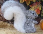 Handmade Needle Felted Animals Wool Woodland Squirrel