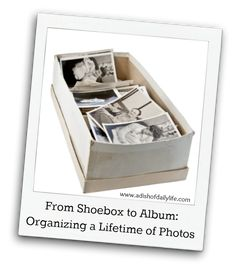 Blog post at A Dish of Daily Life : Do you have boxes of photos tucked away in closets? Years of kids' artwork? Did you inherit your parents photos?  Your photos and memora[..]