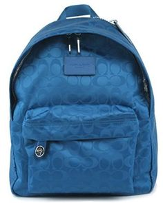 Amazon.com: COACH Small Backpack In Nylon 35033 in Bright Mineral: Shoes
