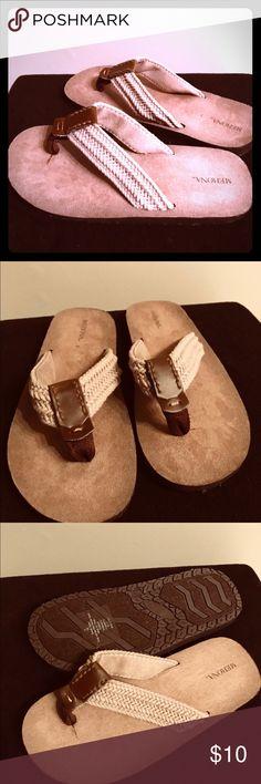 9ecb9a8ba8ff New Mens Merona Remington Sandals Desert Tan 7 8 New Mens Merona Remington  Sandals Desert