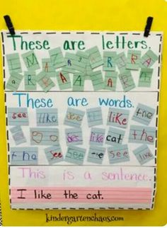 Great child-made anchor chart!!                                                                                                                                                      More