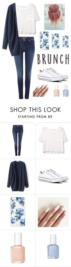 """""""Mother's Day 2.0"""" by aashaaaaaak on Polyvore featuring 7 For All Mankind, MANGO, Converse, Sonix and Essie"""
