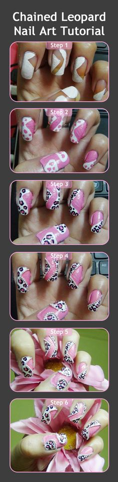 Leopard Nail Art Tutorial :try out this nail art. It's stunning and super girly.