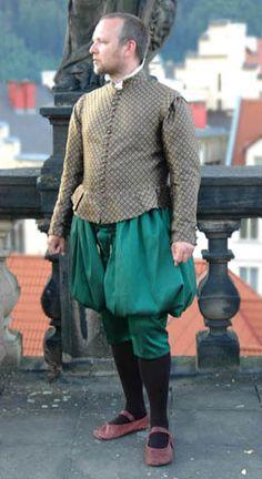 Tailor's - Zuzka Kraemerova, Man's doublet and green trunkhose, part 1