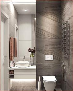 Modern Bathroom Trash Can Washroom Design, Bathroom Design Luxury, Modern Bathroom Design, Small Bathroom Storage, Bathroom Styling, Bathroom Organization, Bad Inspiration, Bathroom Inspiration, Interior Inspiration
