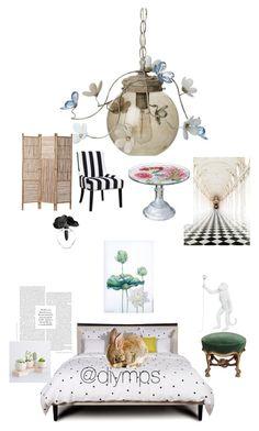 """"" by petrasvetlanamelinte on Polyvore featuring interior, interiors, interior design, home, home decor, interior decorating, Canopy Designs, Kate Spade, Seletti and Lalique"