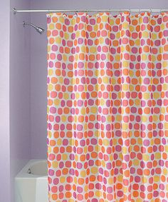 Take A Look At This Pink  Orange Dot Shower Curtain By InterDesign On Zulily Stunning And Yellow Mosaic Cubes