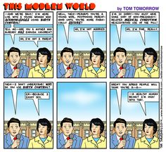 Cartoon: The woman who took birth control