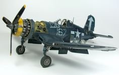 "Vought F4U1-D Corsair ""White 167"" 1/48 by MAREK VRZÁK.Tamiya kit along with Aires detailing set."