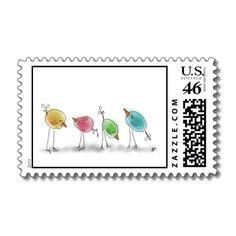 Blue Birdies Stamp