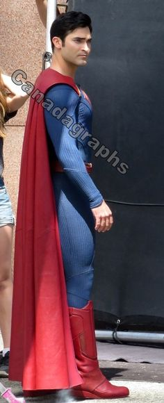 Tyler Hoechlin as #Superman on the set of #Supergirl July 29, 2016 in Vancouver