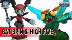 Skylanders Trap Team Gameplay Bat Spin + High Five + April Efff Co-Op
