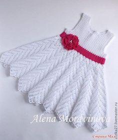 vestidos de tricô para bebe com grafico