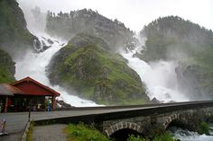 Norway - Låtefossen | Flickr .  Photos really can't do it justice.  Such a beautiful place.