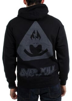 Overkill - Mens Tri Bat Zip Zip Hoodie - http://bandshirts.org/product/overkill-mens-tri-bat-zip-zip-hoodie/