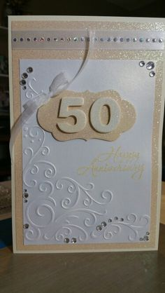 Handmade 50th anniversary card