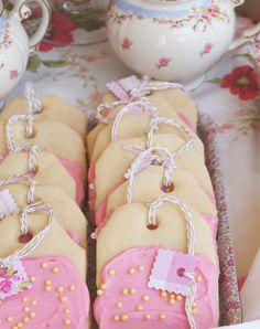 Tea party cookies ... Dip these in chocolate instead of frosting. www.partysuppliesnow.com.au