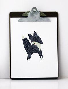 Little winter fox print.