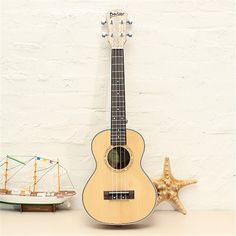 81.52$  Watch now - http://ali58r.worldwells.pw/go.php?t=32782275115 - Deviser Ukulele UK24-60 24 Inch Matte 4 Nylon strings Guitar Spruce Panel Rosewood Fretboard Musical Instrument for beginners
