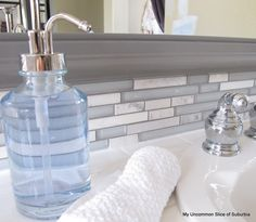 how to update a backspslash -diy glass tile back splash