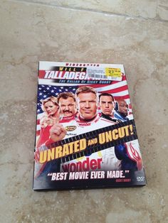 Talladega Nights With Will Ferrell Movie Dvd Unrated & Uncut beautiful condition