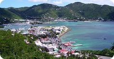 Road Town, Tortola.  We were taken to a restaurant where you had a great view of almost the entire Island.