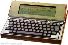The Olivetti M-10 is basically the same computer as the Tandy 100 or the NEC PC-8201. All these machines were in fact conceived by Kyocera Corporation (Japan). Thus they all have very similar characteristics. Olivetti is well known for computers with special design, and the M-10 is not an exception. Compared to the Tandy 100 or NEC PC-8201, the M-10 is quite beautiful. The main physical difference is the LCD screen which can be tilted for user's comfort.