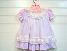 Vintage Baby Clothes Baby Girl Dress In Lavender